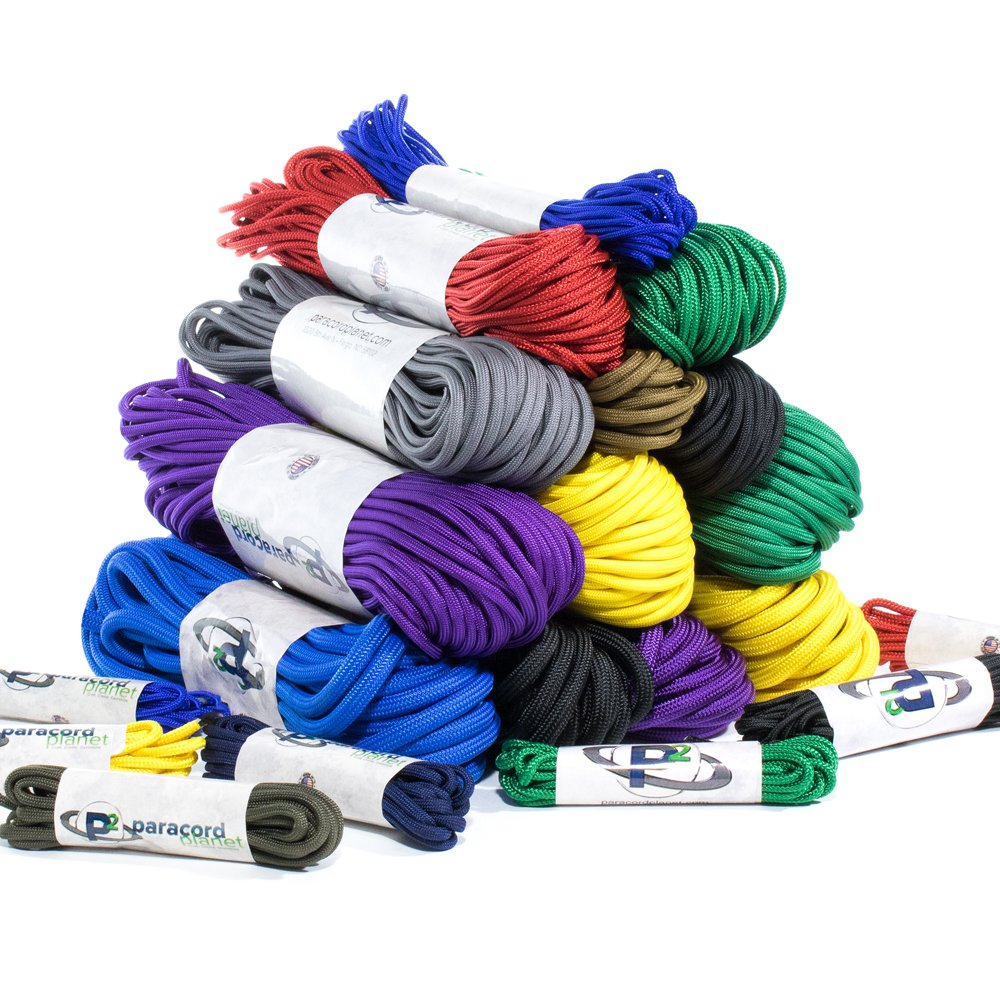 PARACORD PLANET 95, 275, 325, 425, 550, 750, and para-Max Paracord - Various Solid Colors - Available in Lengths of 10, 25, 50, 100, and 250 Feet of USA Made Cord (Acid Purple, 275 Cord x 100 Feet) by PARACORD PLANET (Image #1)