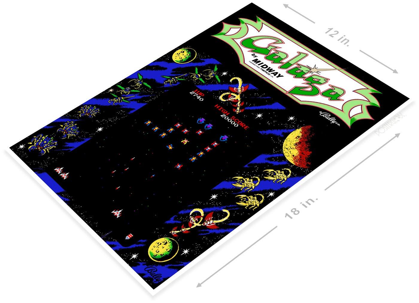 PosterGlobe Poster A400 Galaga Arcade Shop Game Room Marquee Sign Retro Console 12 x 18