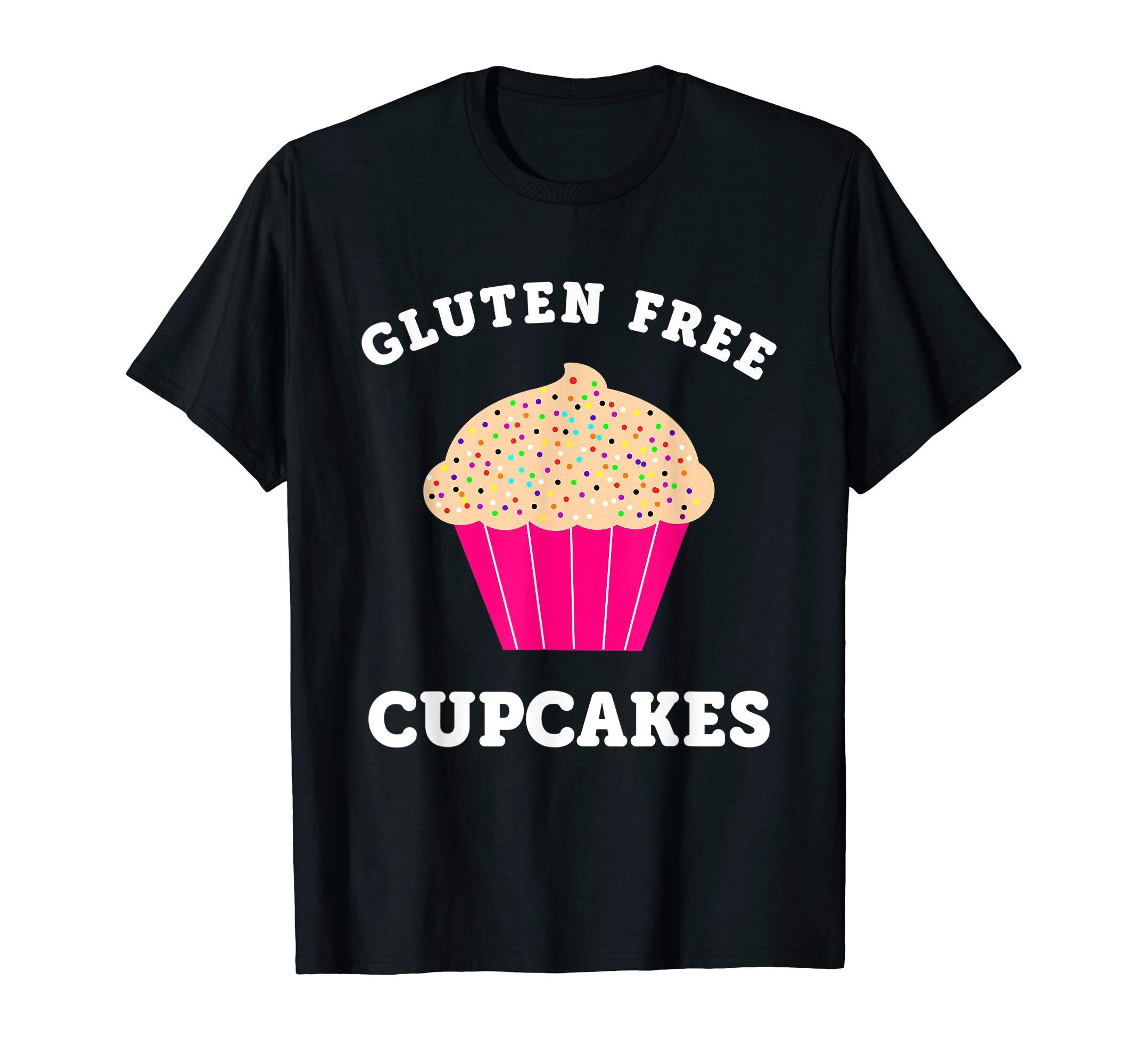 Cute Gluten Free Cupcake Gift For Women T-Shirt by Cute Gluten Free Clothing Co