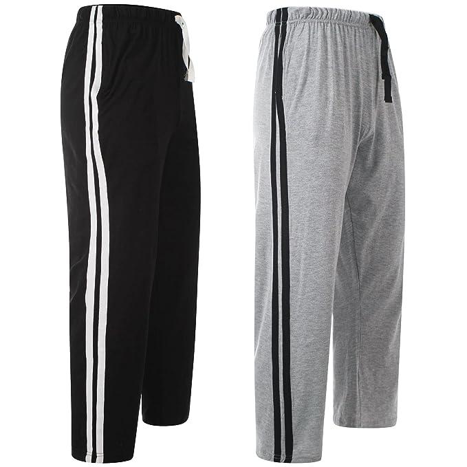 MYSHOESTORE - Pantalón de pijama - para hombre multicolor Black & Grey / 2 Pack Small