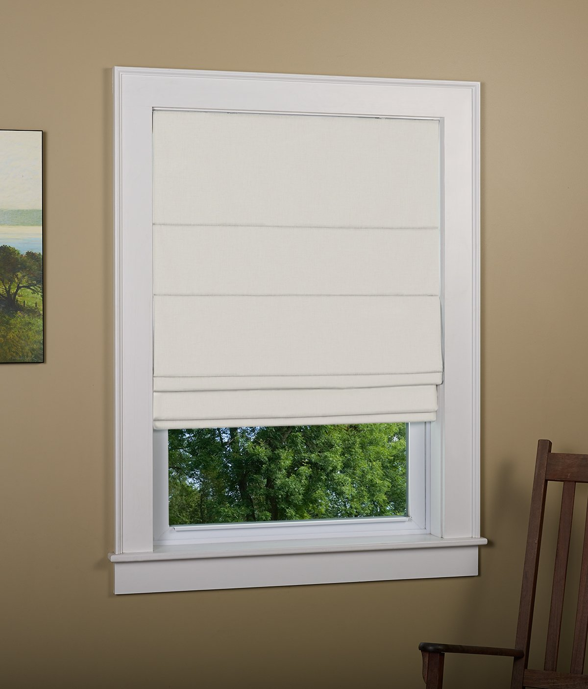 Green Mountain Vista, Thermal Blackout Cordless Roman Shade - Size: 27x63 Inch Color: Grey 2020-027GY