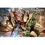 1art1 60259 The Avengers Poster - Superhelden In Aktion, Marvel Studios, 91 x 61 cm