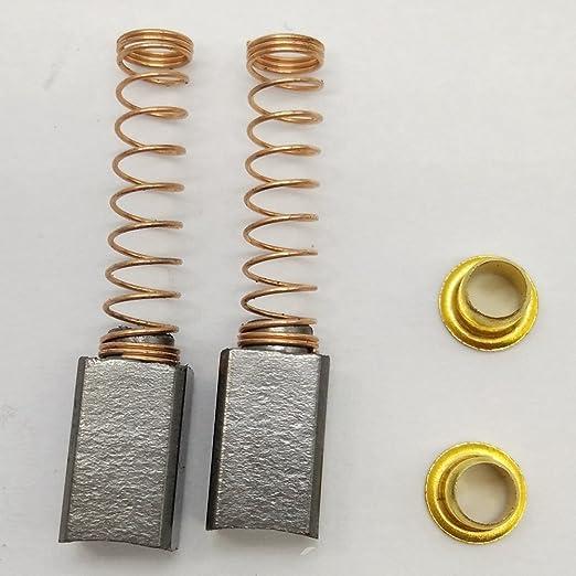2 escobillas de motor Honeysew, de carbono, con resortes, para ...