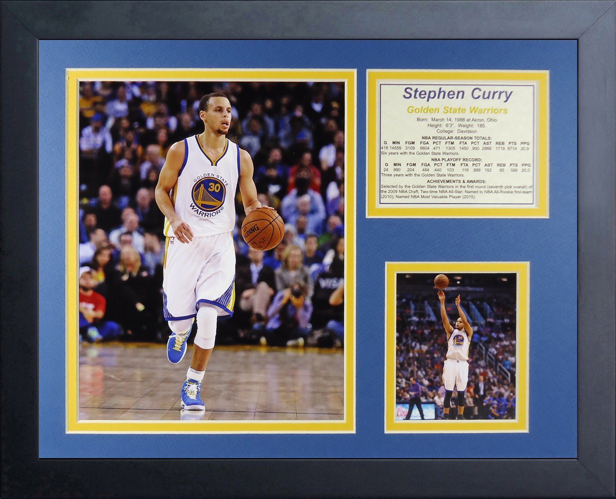 11 x 14 Legends Never Die Steph Curry Golden State Warriors White Collage Photo Frame