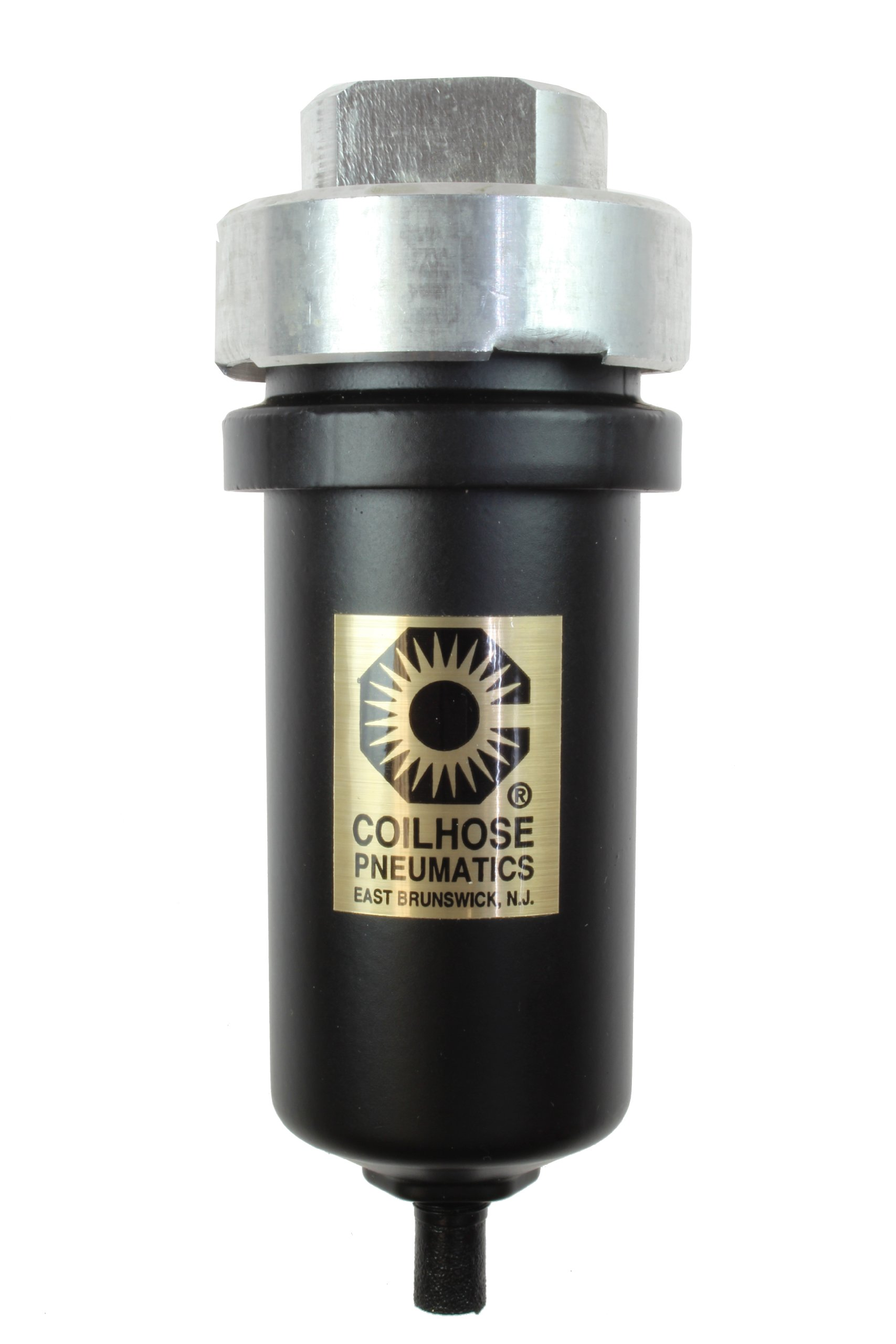 Coilhose Pneumatics 8514M Mechanical Condensate Drain with Metal Bowl, 1/2-Inch FPT