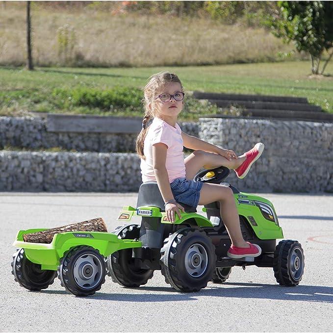 Amazon.com: Smoby 710111 Tractor con remolque por de los ...