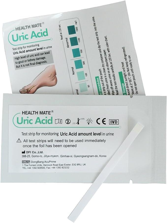 10 x Tiras Reactiva en Orina para Acido Urico - Test de Gota