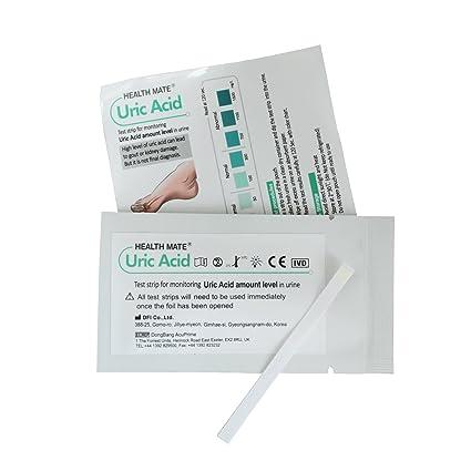 5 x Tiras Reactiva en Orina para Acido Urico - Test de Gota