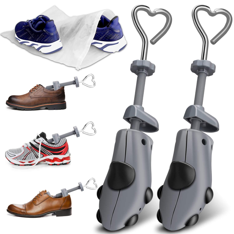 XYH Shoe Stretcher Men Premium Shoe Stretchers Tough Plastic Shoe Trees Adjustable Width and Length Shoe Stretcher Women M'S SZ(8.5-13.5) WM'S SZ (9.5-13.5) by XYH