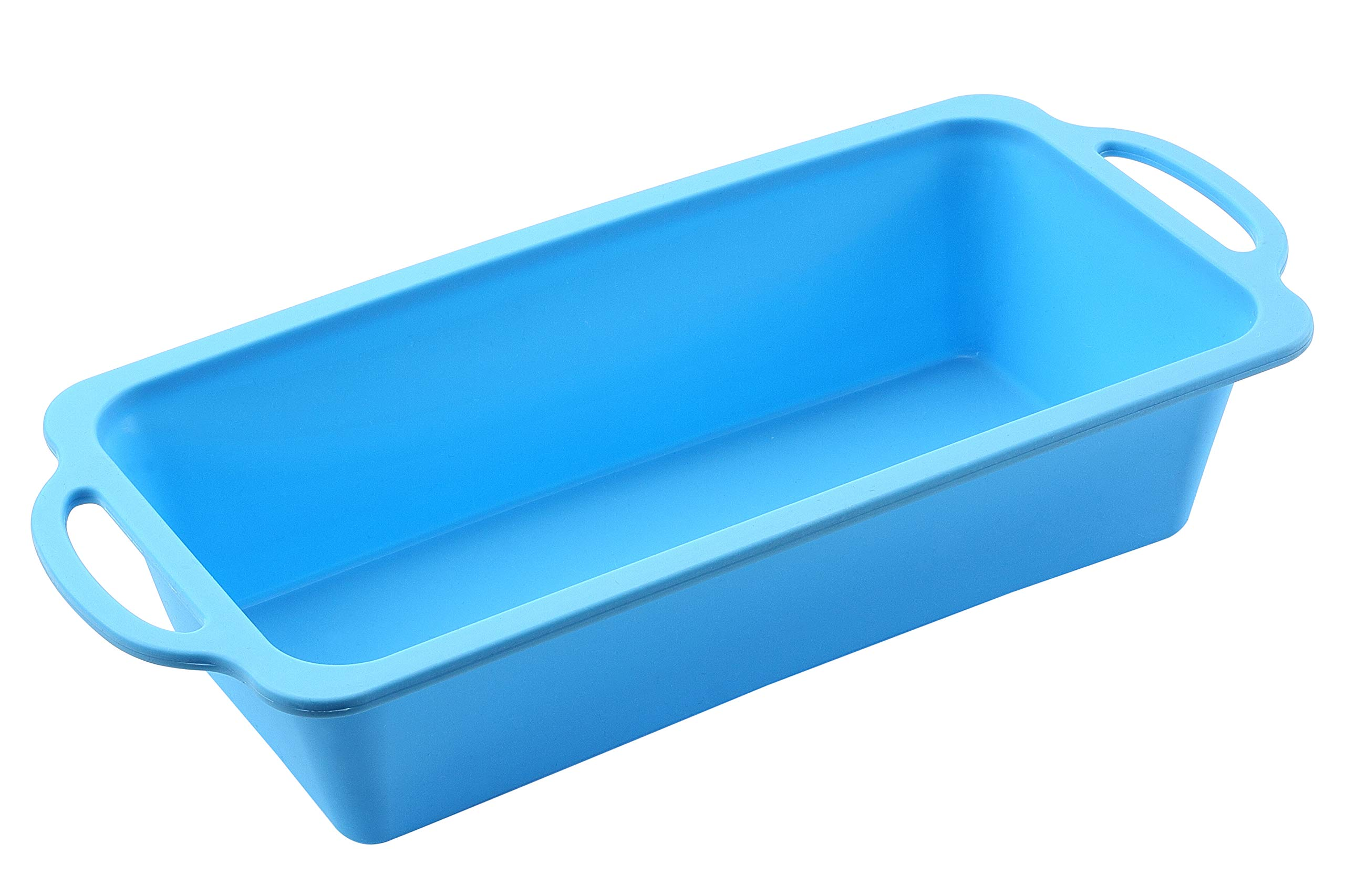 TRENDS home 10 Inch Loaf Silicone Baking Pan, Silicone Baking Molds, Banana Bread Pan. This silicone bakeware has durability & strength with Patented Reinforced Stainless Steel Frame. DISHWASHER SAFE.