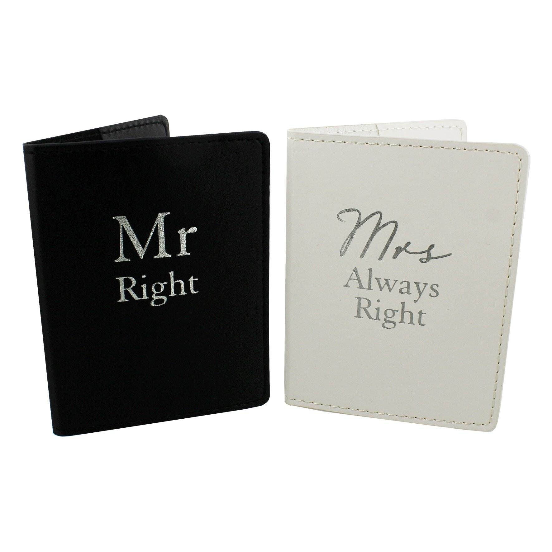 Oaktree Gifts Mr Right & Mrs Always Right Set 2 Passport Holders by Oaktree Gifts