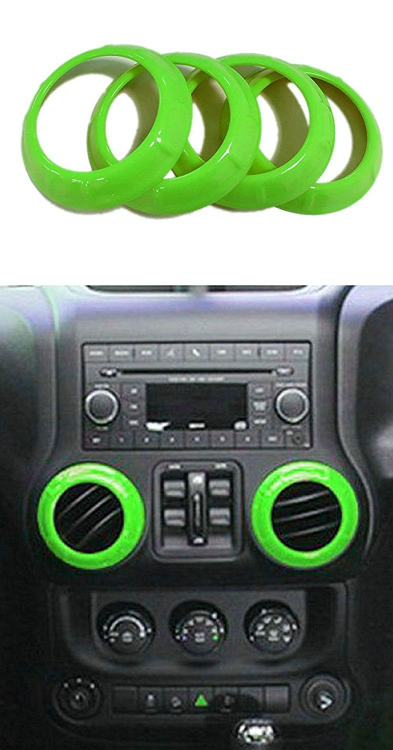 Opall Full Set Interior Decoration Trim Kit Steering Wheel /& Center Console Air Outlet Trim Door Handle Cover Inner Passenger Seat Handle Trim For Jeep Wrangler 4350397880