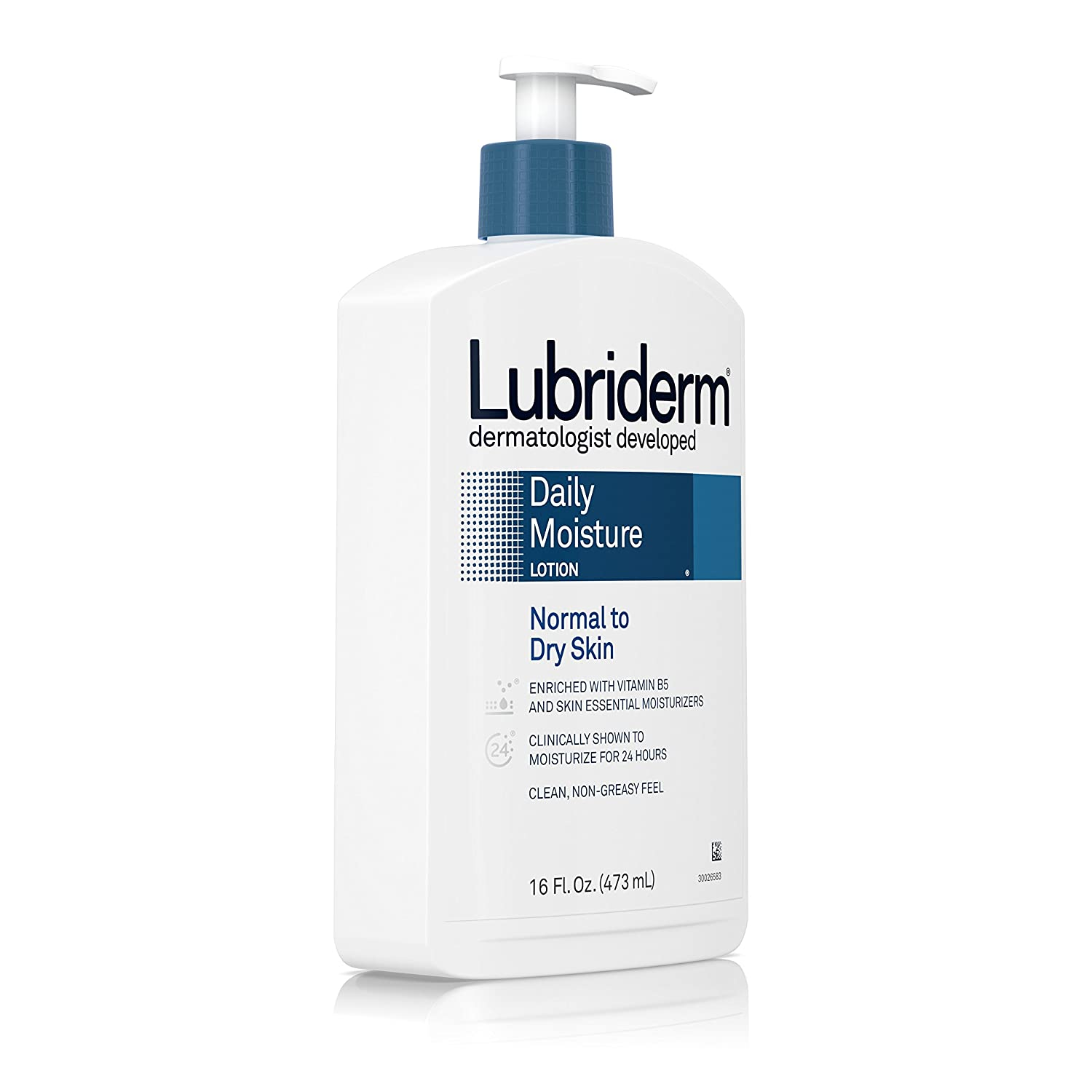 Lubriderm Daily Moisture Lotion 6 oz (Pack of 4) Eco Lips - Eco Tints Lip Balm Moonstone - 0.15 oz. (pack of 2)
