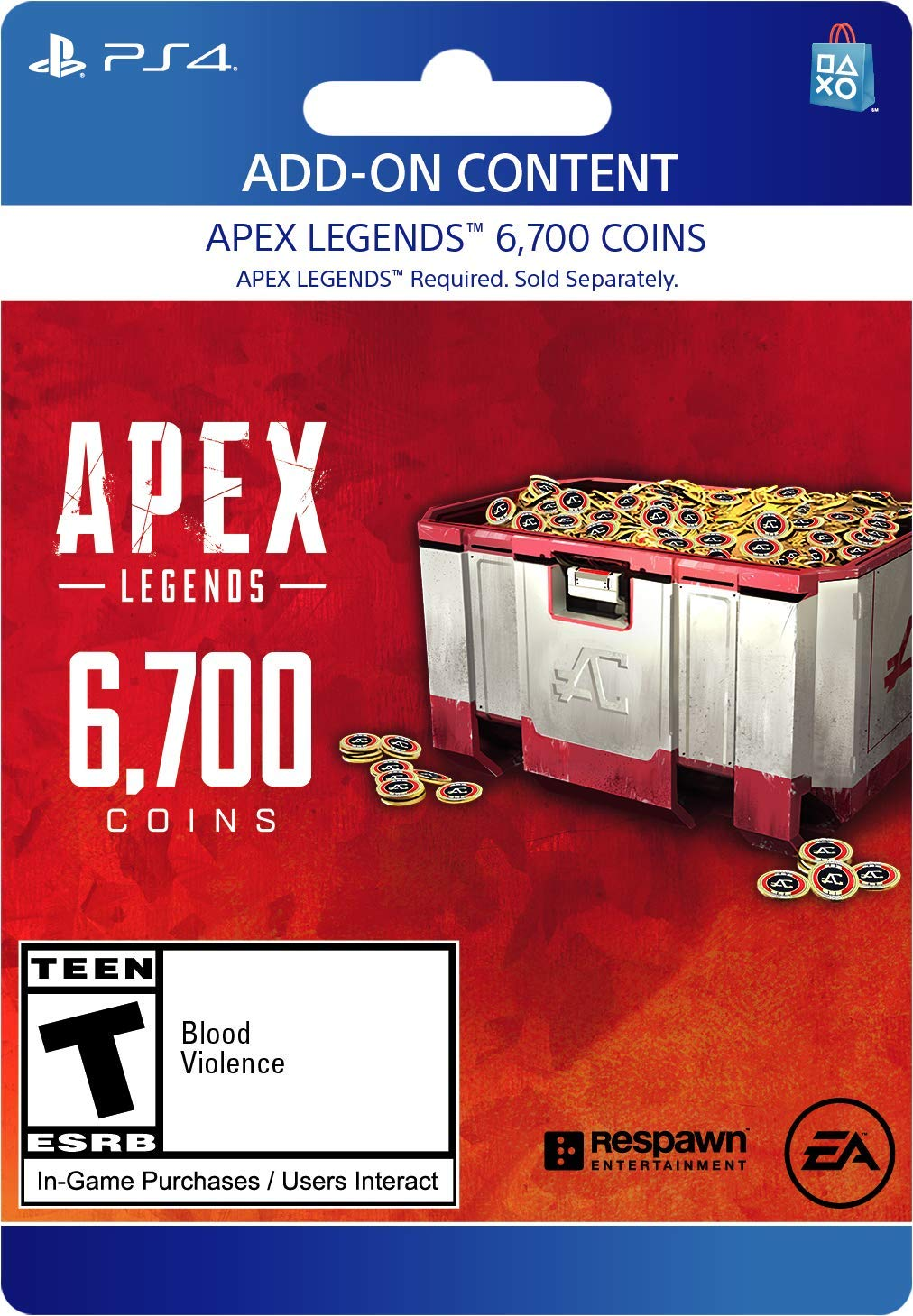 Apex Legends - 6,700 Coins Virtual Currency - PS4 [Digital Code] by Electronic Arts