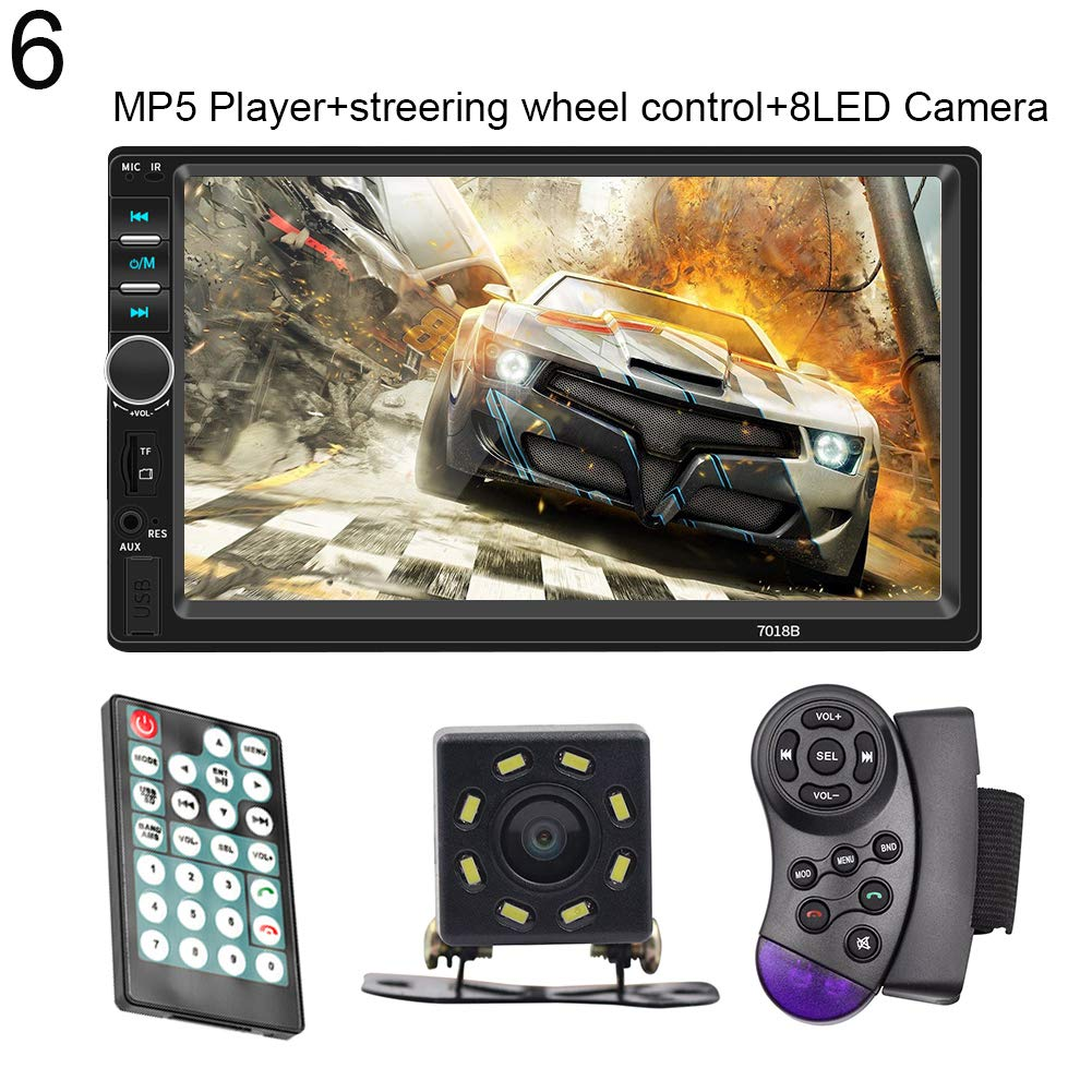 hAohAnwuyg Car MP5 Player,7 Inch Digital HD Multi-Touch Screen Radio Player Support Bluetooth USB Camera 6#