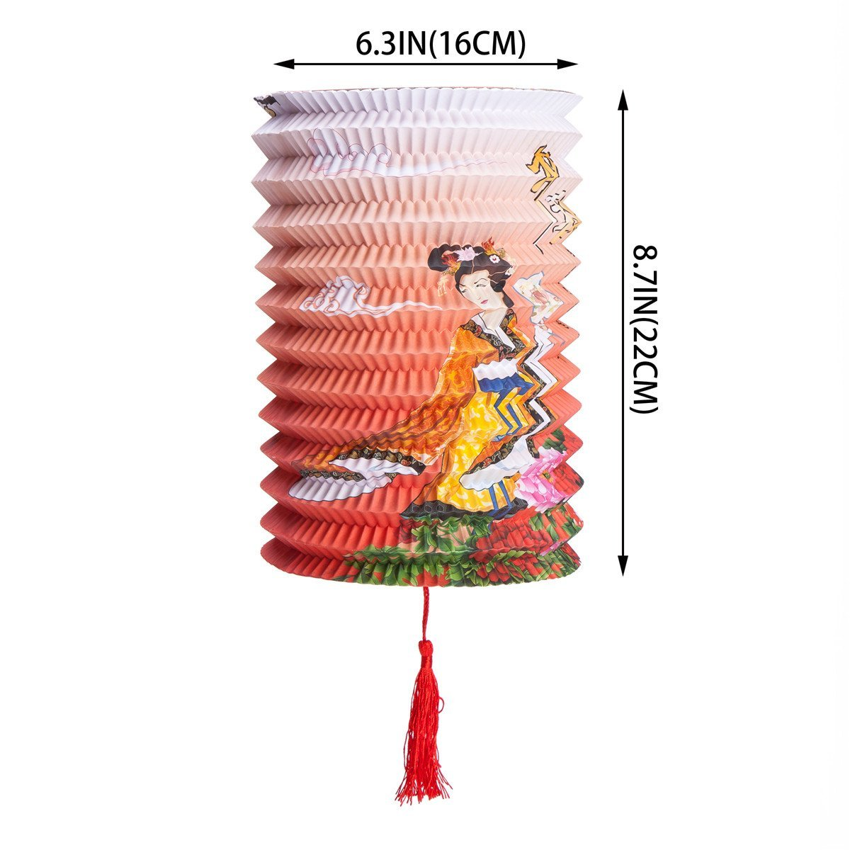 Set Of 6 Goddess Chang E Fly To The Moon Chinese Festival Party Celebration Home Decor Lanterns by THY COLLECTIBLES (Image #8)