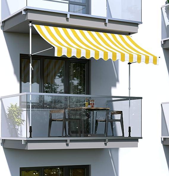 paramondo Toldo Enrollable, Toldo para balcón Jam, 2, 5 x 1, 5 m ...