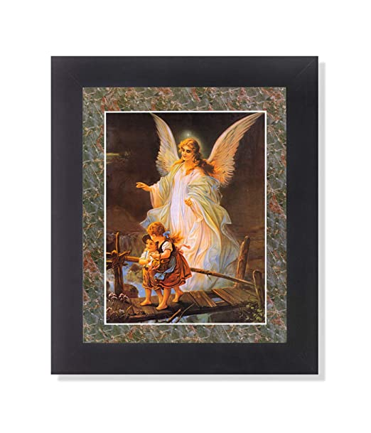 picture of Guardian Angel #3 Children Bridge Religious Wall Picture