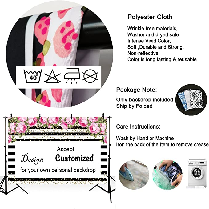 6x6FT Vinyl Photo Backdrops,Curvy Soft Colored Lines Background for Graduation Prom Dance Decor Photo Booth Studio Prop Banner
