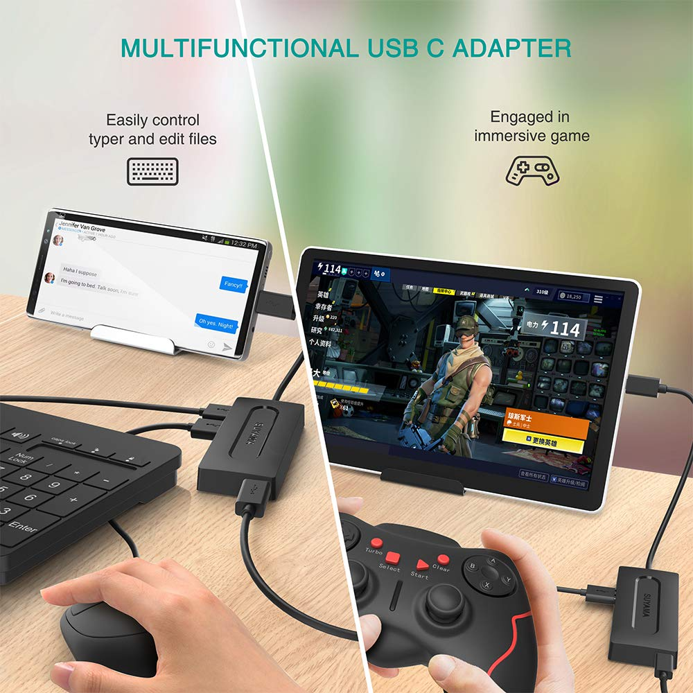 3 USB 3.0 Ports SUYAMA USB C HUB Adapter f/ür Android Windows Tablet and Smart Phone mit 100W Power Delivery Chromebook,iPad Pro,Samsung Galaxy Note 10 Plus S10 S9 S8,Galaxy Book,Google Pixel