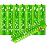 エネボルト(enevolt) 単4 充電池 900mAh 大容量 ニッケル水素充電池 自然放電軽減 繰り返し約1000回 充電 電池 8本セット