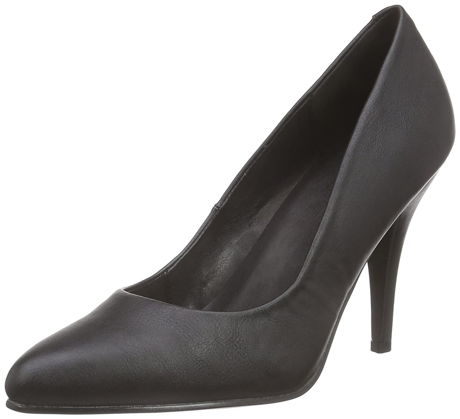 Pleaser VANITY-420, Zapatos Mujer 37 EU|Negro (Black Faux Leather)