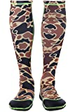 WETSOX Wader Sox, Large CAMO Frictionless Wading Socks, Get In and Out of any wader or boot Easily, 1mm Neoprene Keeps Feet Warm wet or dry