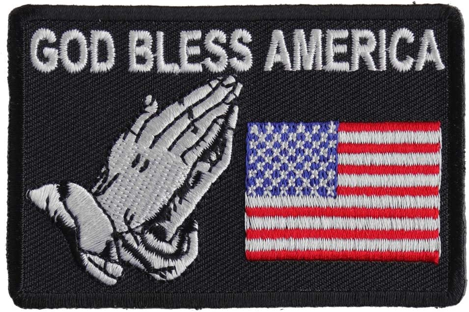 Embroidered God Country Family Small Sew or Iron on Patch Biker Patch