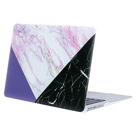 MOSISO Funda Dura Compatible MacBook Air 11 Pulgadas (A1370 / A1465), Ultra Delgado Carcasa Rígida Protector de Plástico Cubierta, Mármol Rosa con ...