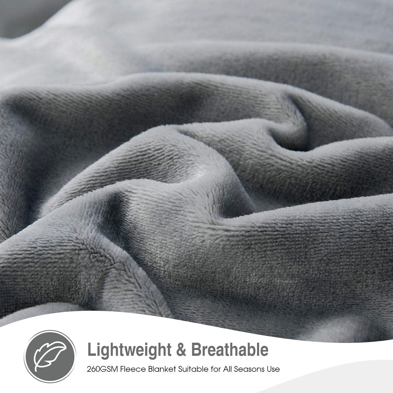 Douce et Chaude Couverture en Microfibre Jet/é de lit Olive Verte Flanelle Couverture VEEYOO Plaid Couverture Couvre-lit 150x200cm pour Canap/é