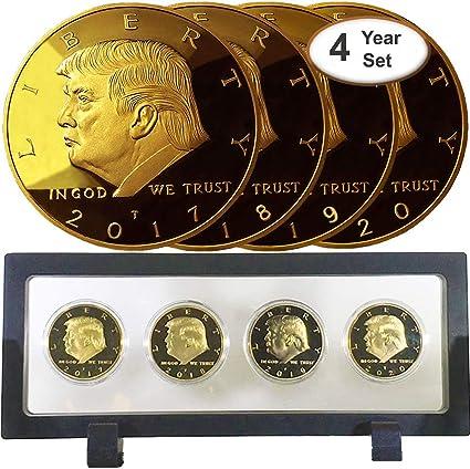 24-K GOLD FOIL TRUMP FUN NOVELTY COLLECTORS BILL /& 1 GRAM OF 999 SOLID SILVER
