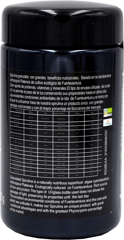 Spirulina granulado seco de Fuerteventura tarro 125g: Amazon ...