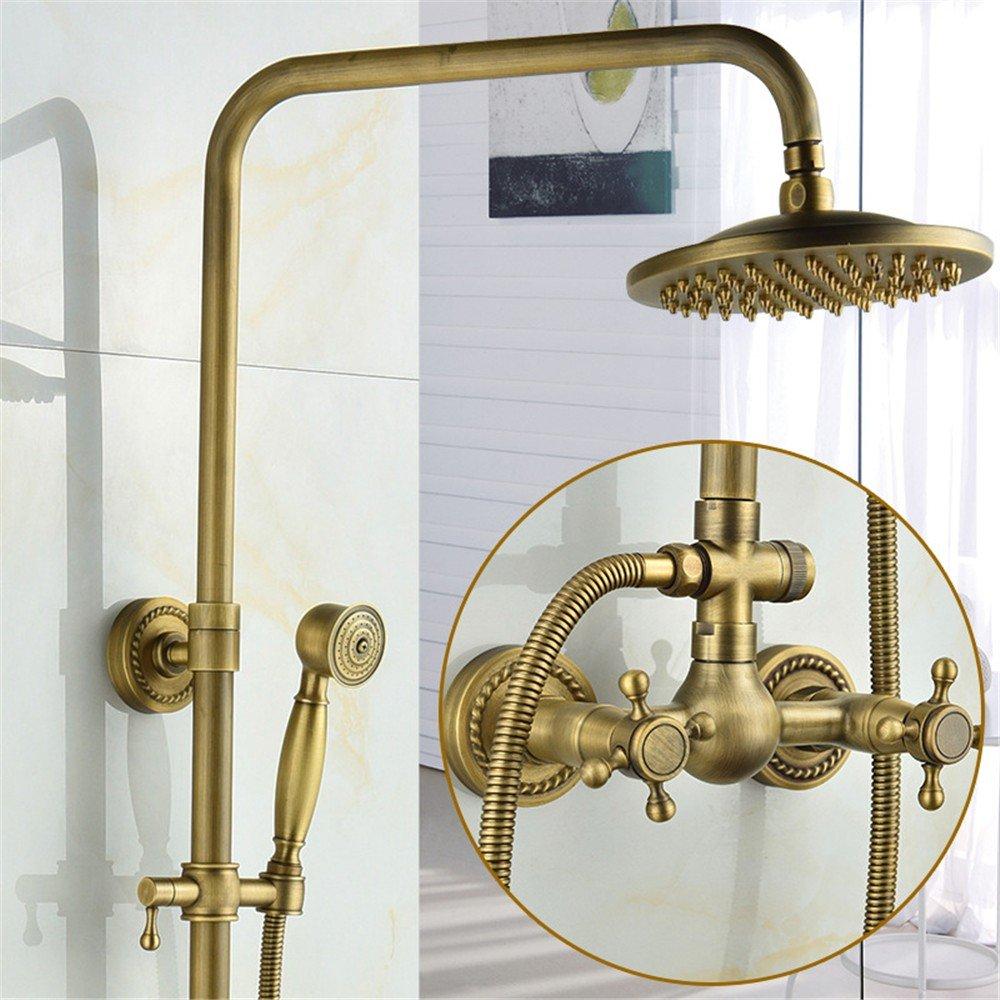 Gourd Seven Word Tube MIAORUI All copper antique shower suit European Black Bronze three block shower shower shower showers,Question mark Guan Qitong