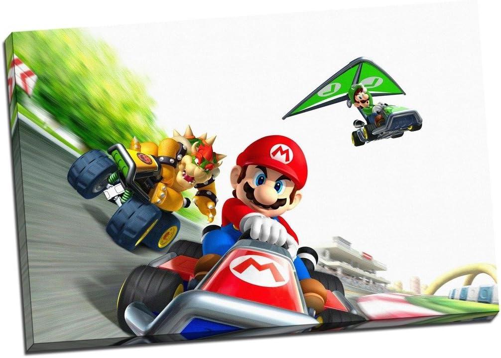 Mario Kart Avec Luigi Impression Sur Toile Photo Mur Art