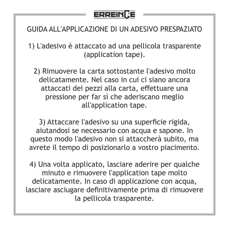 cm 10 erreinge Sticker Biohazard Nucleare Simbolo RADIOATTIVO Adesivo Sagomato in PVC per Decalcomania Parete Murale Auto Moto Casco Camper Laptop