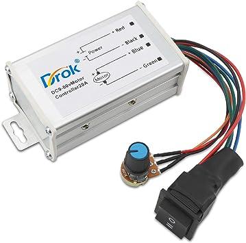 DC 12V 24V 36V 48V 60V 1200W 20A PWM DC Motor Speed Controller Regulator Switch