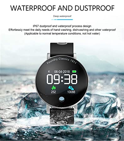 Amazon.com: WoCoo Lightweight SmartWatch,1.4 inch Touch Screen Display,IPX67 Waterproof,Compatible with iOS&Android,Cost-Effective(Black): Kitchen & ...