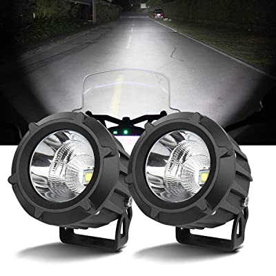 Samlight LED Driving Light,2Pcs Cree 25W 6000K Spot Beam Round LED Work Light Pod lights Work Lamp for Off Road 4x4 Pickup Truck Motorcycle Jeep SUV Truck Wrangler Boat Tractor: Automotive