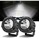 Chelhead LED Driving Light,2Pcs Cree 25W 6000K Spot Beam Round LED Work Light Pod Lights Work Lamp for Off Road 4x4…
