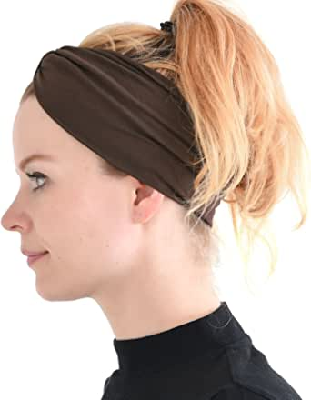 CHARM Casualbox   Sports Headband Elastic Turban Hairband Mens Womens Hair Band Yoga Headband
