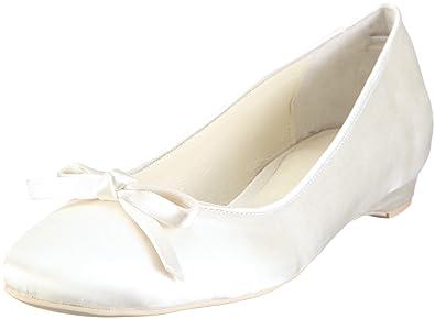 Alicia 04348, Ballerines femme - Blanc cassé-TR-AF, 36 EUMenbur