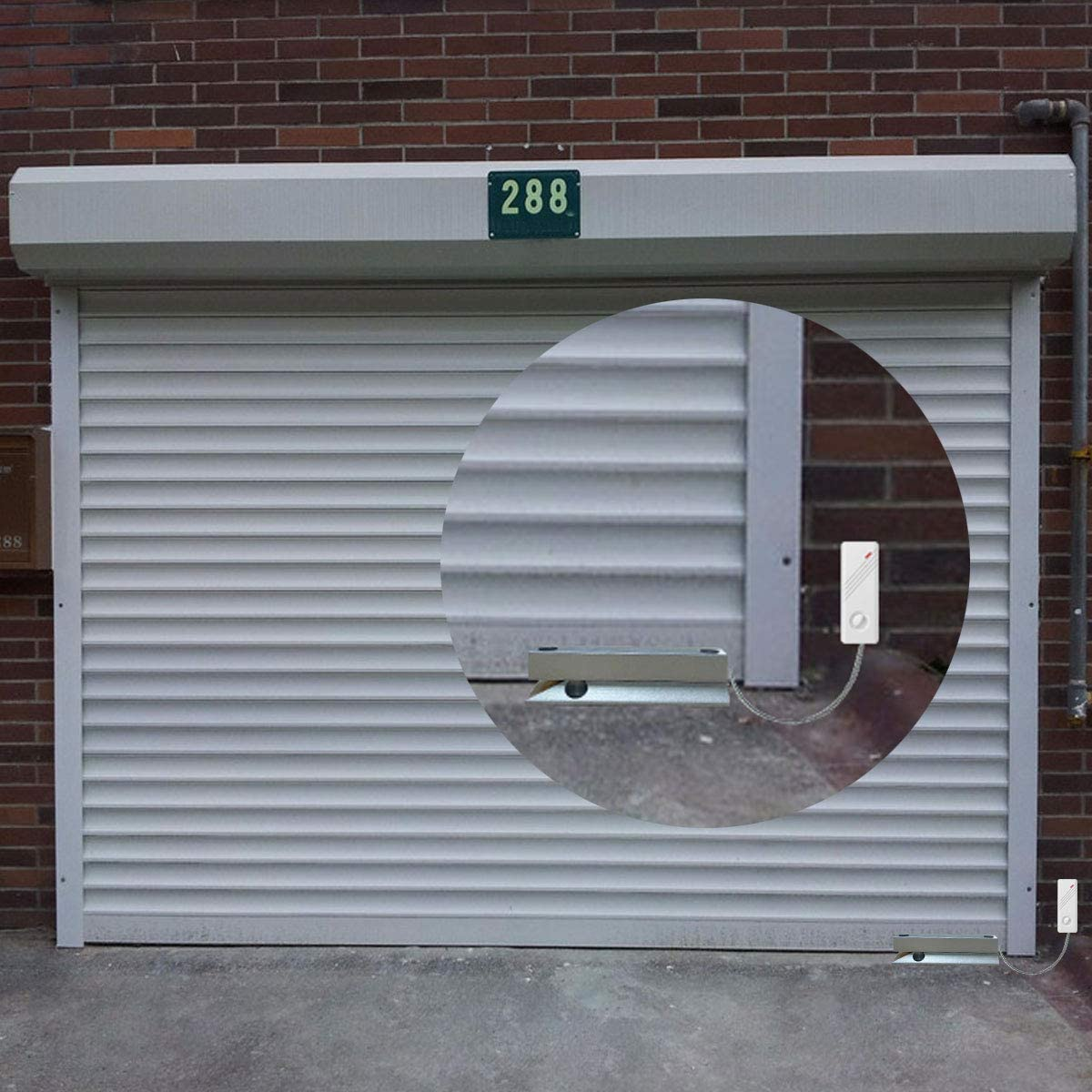 Contacto para puerta de garaje de metal sensor inal/ámbrico Wolf-Guard MC-J01 persiana met/álica garaje alarma magn/ética para tienda