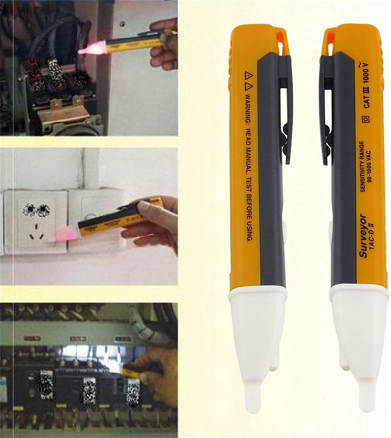 tes-151 AC DC Solenoid Voltage Tester  Electric Electrical Volt Testing Probe