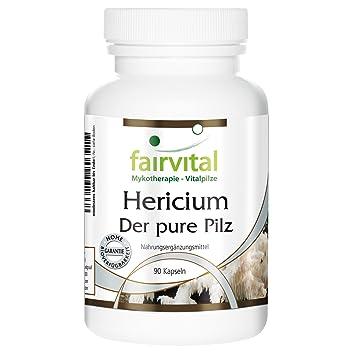 Hericium 500 mg - 1 mes - VEGAN - ALTA DOSIS - 90 cápsulas - Hericium erinaceus - polvo de hongo: Amazon.es: Salud y cuidado personal