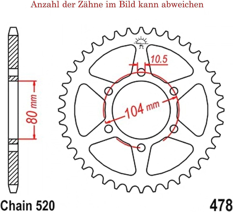 Kettenrad Mit 45 Zähnen Für Z 750 L 2007 2010 Von Jt Sprockets Auto