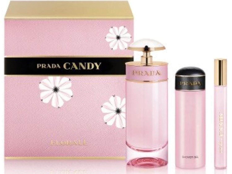 ef24cca8 Prada Candy Florale Gift Set 80ml EDT + 75ml Body Lotion + 10ml Roll ...