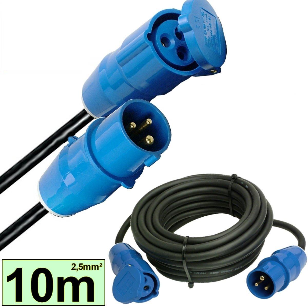 10 m CEE Verlängerungskabel Stromkabel 16A / 230V IP44 Kabel Stecker ...