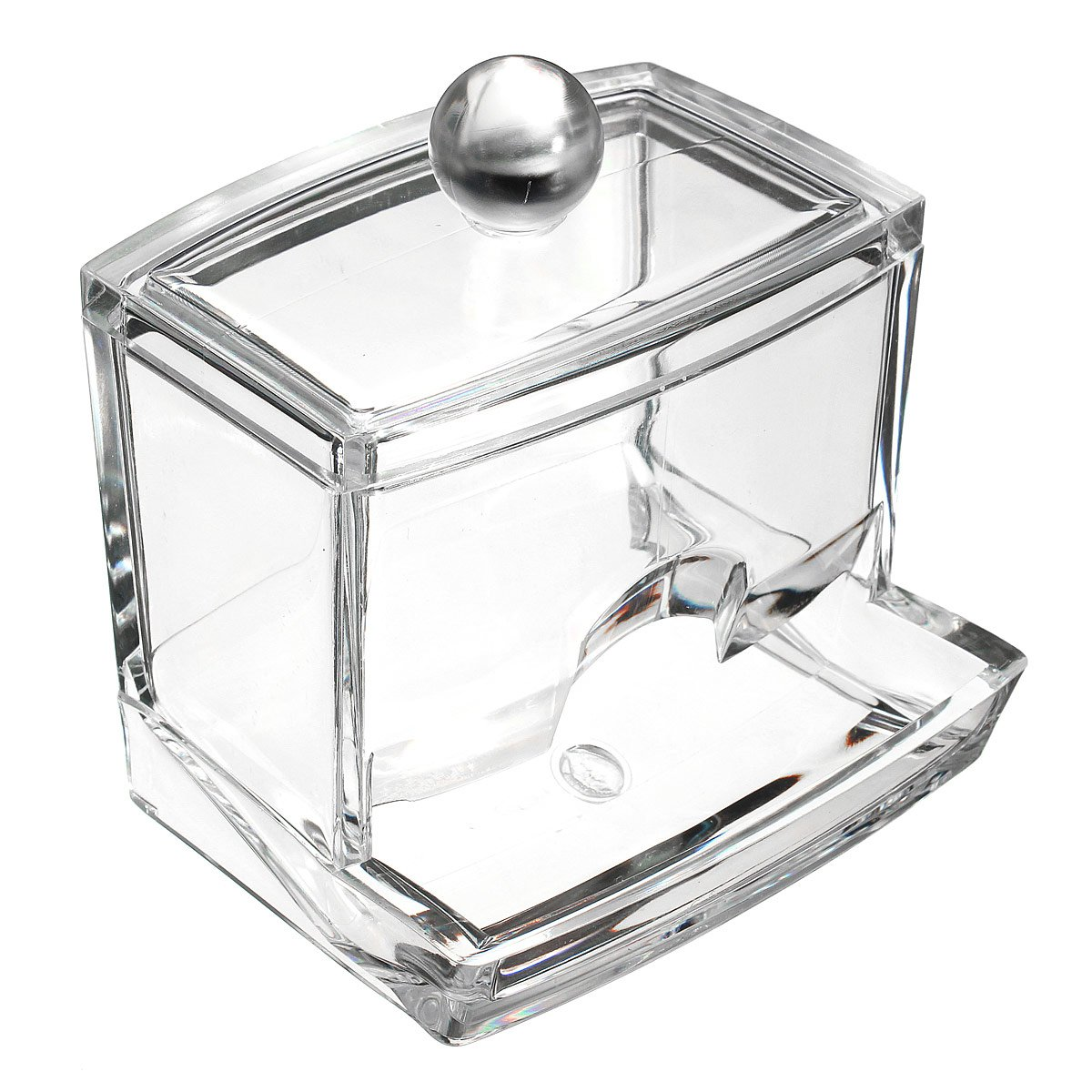 LUCKYFINE Cosmetic Q-tip Cotton Swabs Acrylic Holder Storage Box KINGSO Co. LTD. UKAIALIDTV2535