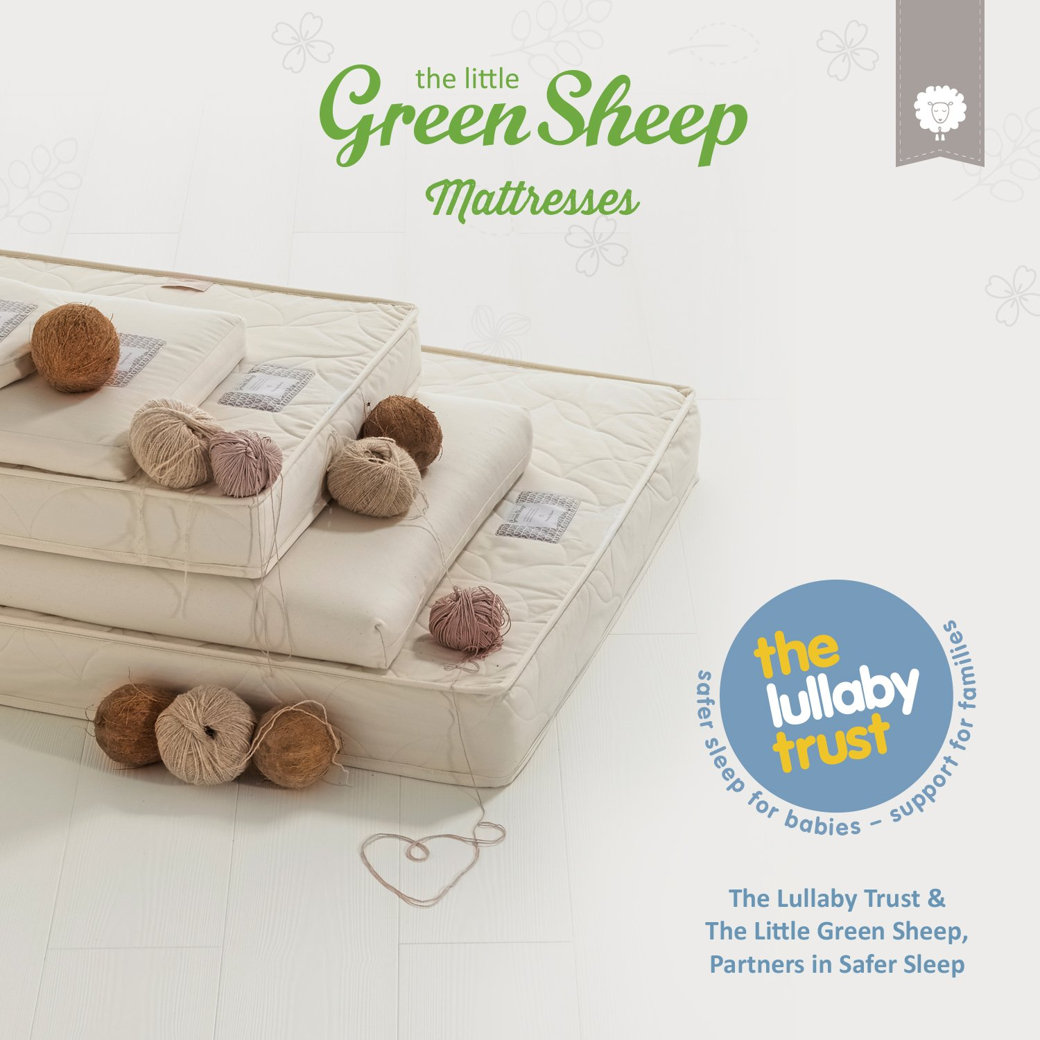 81/ cm x 42/ cm The Little Green Sheep colch/ón natural para babybay Cuna