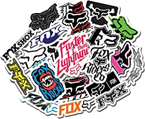 20 PCS Stickers Pack Foxracing Aesthetic Vinyl Fox Factory Colorful Waterproof for Water Bottle Laptop Scrapbooking Luggage Guitar Skateboard